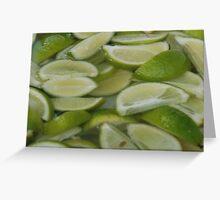 Sliced Limes Greeting Card