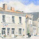 The Mairie at Varaignes, France by ian osborne