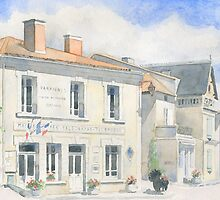 The Mairie at Varaignes, France by ian osborne