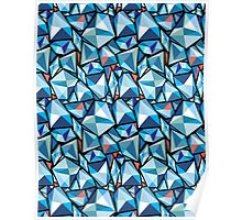 abstract pattern polygons Poster