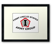 First United States Army Group (FUSAG) - Stressed Framed Print