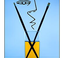 Cocktails with Picasso - Titled print by Mark Podger