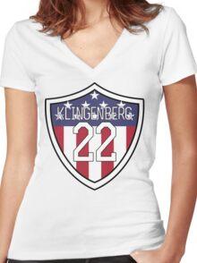 Meghan Klingenberg #22 | USWNT Women's Fitted V-Neck T-Shirt