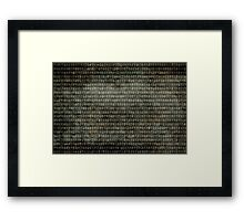 Binary Code - Distressed textured version Framed Print