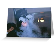 Bat smoke Greeting Card