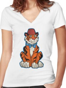 Tiger Who Women's Fitted V-Neck T-Shirt