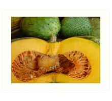 Sliced Pumpkin  Art Print