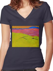 By Muckish 1 - Donegal Women's Fitted V-Neck T-Shirt