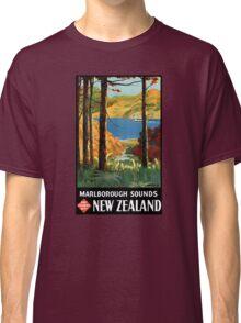 New Zealand Marlborough Sounds Vintage Poster Classic T-Shirt