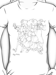 Helga's Fashion Mannequins Series Poster 9 Tiered Peasant T-Shirt