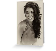 Amber in BW Greeting Card