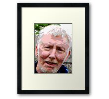 Painful Expression Framed Print