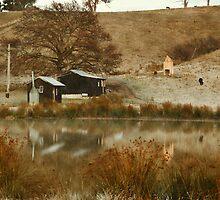 Pickers Huts at Cygnet, Tasmania by Chris Cobern