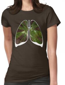 Lungs - Redwood Forest Womens Fitted T-Shirt