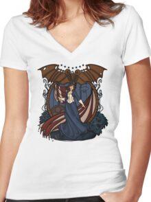 Elizabeth Nouveau Women's Fitted V-Neck T-Shirt