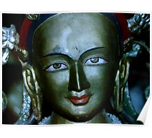 old statue. buddhist monastery india Poster