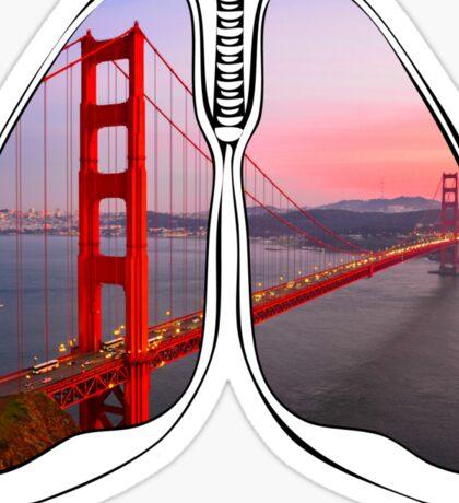 Lungs - Golden Gate Bridge Sticker