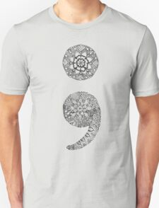 Patterned Semicolon Unisex T-Shirt