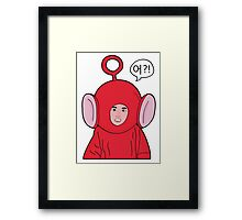 Angry Teletubby  Framed Print