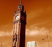 Albert Clock and Obel, Belfast by Chris Millar