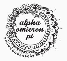 Alpha Omicron Pi Mandala by rosiestelling