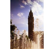 Belfast Albert Clock through fountain Photographic Print