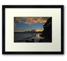 Beautiful Summer Sunset Framed Print