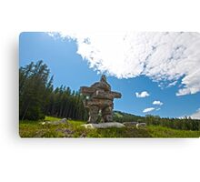 What is an Inukshuk? Canvas Print
