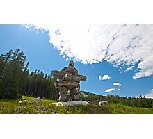 What is an Inukshuk? Photographic Print