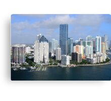 Miami: Downtown Skyscrapers Canvas Print