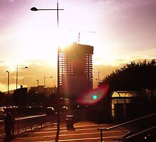 Belfast Obel Apartments from Sydenham Road by Chris Millar