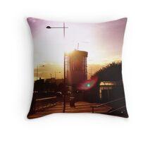 Belfast Obel Apartments from Sydenham Road Throw Pillow