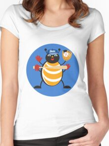 Baseball Bug Women's Fitted Scoop T-Shirt