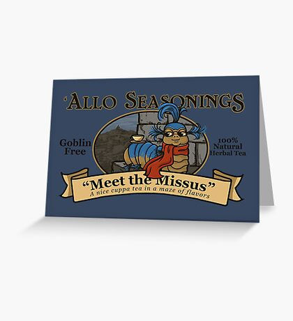 Meet the Missus Tea Greeting Card