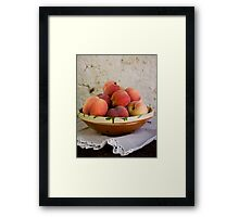 Sun Kissed Peaches Framed Print