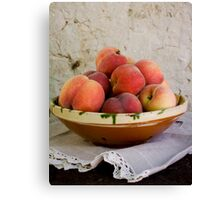 Sun Kissed Peaches Canvas Print