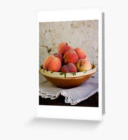 Sun Kissed Peaches Greeting Card
