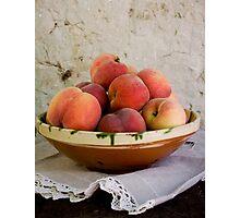 Sun Kissed Peaches Photographic Print
