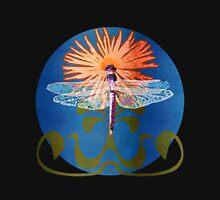 Dragonfly Flower Womens T-Shirt