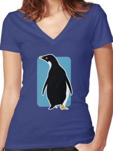 Proud Penguin Women's Fitted V-Neck T-Shirt