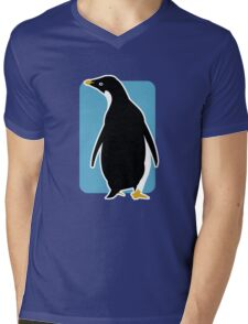 Proud Penguin Mens V-Neck T-Shirt