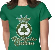 Recycle Queen Womens Fitted T-Shirt