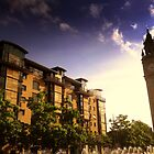 Queen's Square Apartments and Albert Clock, Belfast by Chris Millar