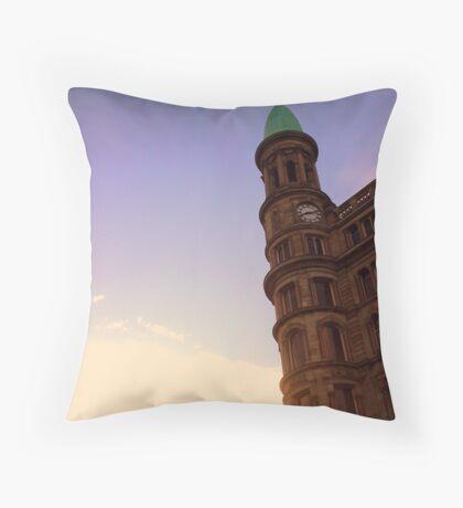 Belfast city centre turret Throw Pillow