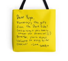 Sora's Message Tote Bag