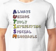 A Postive Outlook on Autism Unisex T-Shirt