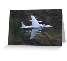 Low flying Harrier cad west Greeting Card