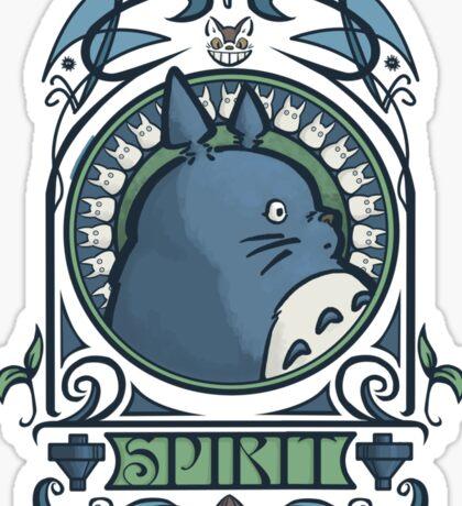 Forest Spirit Nouveau Sticker
