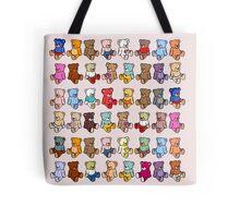 Colourful Teddy Bears Tote Bag