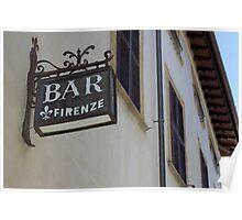Italian Bar Poster
